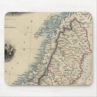 Sweden and Norway 8 Mouse Mat