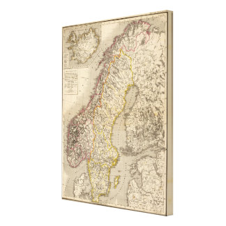Sweden and Norway Canvas Print