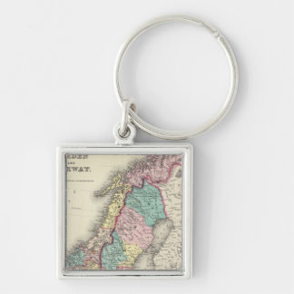 Sweden And Norway Key Ring