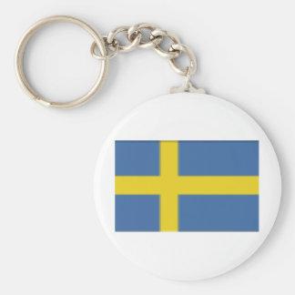 Sweden Basic Round Button Key Ring