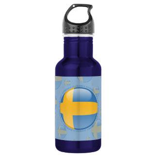 Sweden Bubble Flag 532 Ml Water Bottle