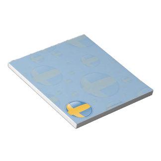 Sweden Bubble Flag Notepad