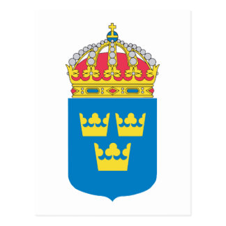 Sweden Coat of Arms (lesser) Postcard