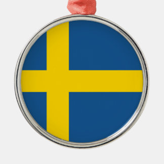 sweden country flag nation symbol christmas ornament