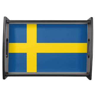 sweden country flag nation symbol serving tray