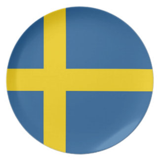 sweden country flag plate