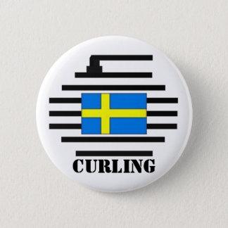 Sweden Curling 6 Cm Round Badge