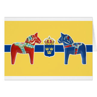 Sweden Dala Coat of Arms Card