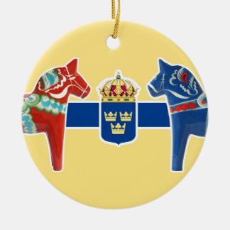 Sweden Dala Coat of Arms Christmas Ornament