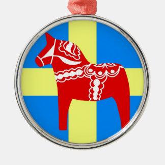 Sweden Dala Horse Christmas Ornament