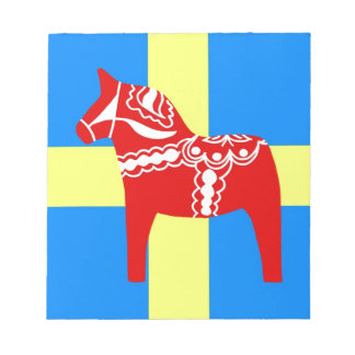 Sweden Dala Horse Notepad