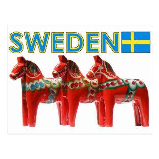 Sweden Dala Horse Postcard