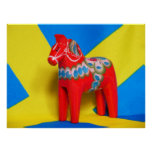 Sweden Dala Horse Posters
