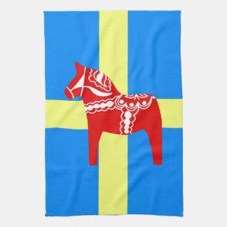 Sweden Dala Horse Tea Towel
