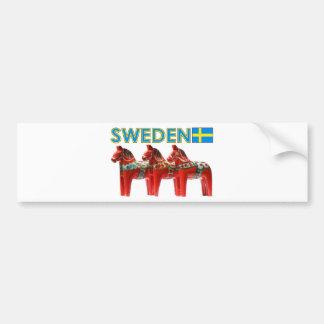 Sweden Dala Horses Bumper Sticker