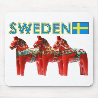 Sweden Dala Horses Mouse Mat