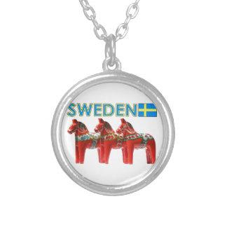 Sweden Dala Horses Custom Necklace