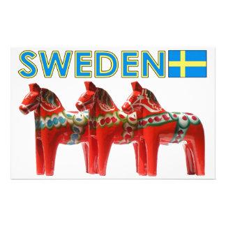 Sweden Dala Horses Stationery