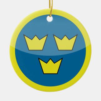 sweden round ceramic decoration
