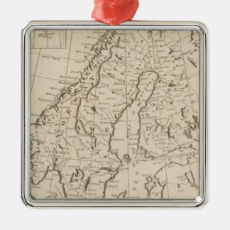 Sweden, Denmark, Norway and Finland 3 Christmas Ornament