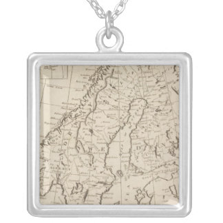 Sweden, Denmark, Norway and Finland 3 Silver Plated Necklace