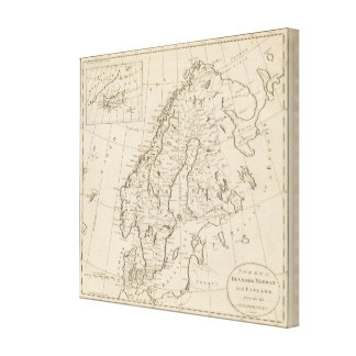 Sweden, Denmark, Norway and Finland Canvas Print