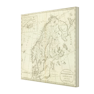 Sweden, Denmark, Norway, and Finland Canvas Print