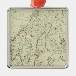 Sweden, Denmark, Norway, and Finland Christmas Ornament