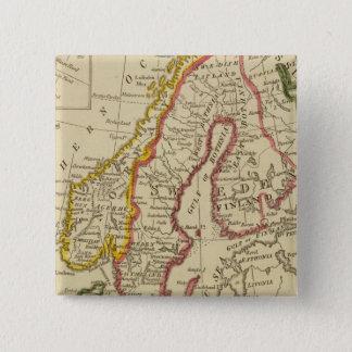 Sweden, Denmark, Norway, Finland, Iceland 15 Cm Square Badge