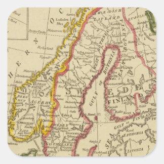 Sweden, Denmark, Norway, Finland, Iceland Square Sticker