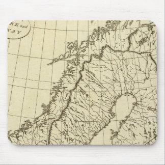 Sweden, Denmark, Norway outline Mouse Mat