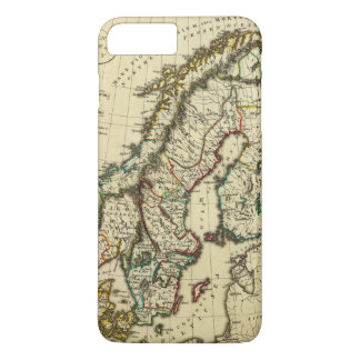 Sweden, Denmark, Norway with boundaries outlined iPhone 8 Plus/7 Plus Case