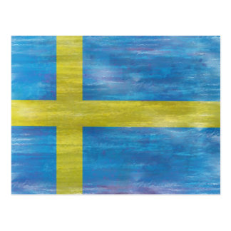 Sweden distressed Swedish flag Postcard