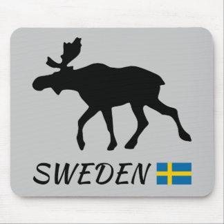 Sweden Elk and flag Mouse Mat