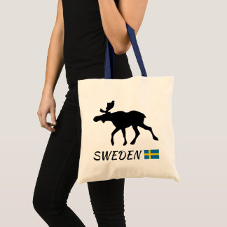 Sweden Elk and flag Tote Bag