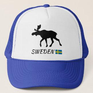 Sweden Elk and flag Trucker Hat