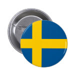 Sweden Flag 6 Cm Round Badge