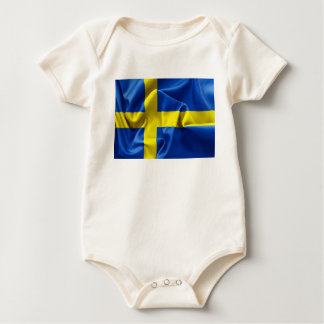 Sweden Flag Baby Bodysuit