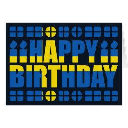 Swedish birthday cards invitations zazzle sweden flag birthday card bookmarktalkfo Choice Image