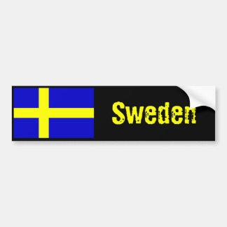Sweden flag bumper sticker 2