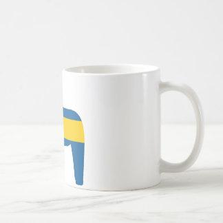 Sweden Flag Dala Horse Coffee Mug