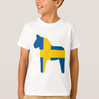 Sweden Flag Dala Horse T-Shirt