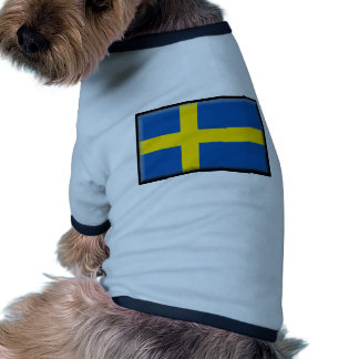Sweden Flag Dog Tee Shirt