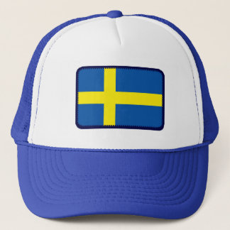 Sweden flag embroidered effect hat