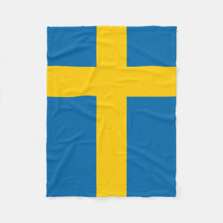Sweden flag fleece blanket