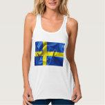 Sweden Flag Flowy Racerback Tank Top
