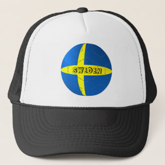 Sweden flag football soccer hat