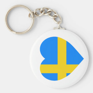 Sweden Flag Heart Key Ring