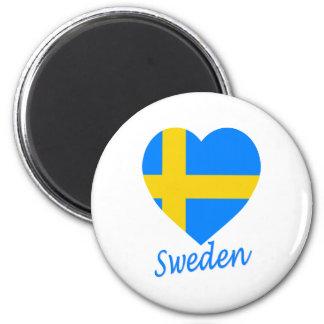 Sweden Flag Heart Fridge Magnets