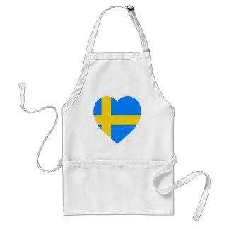 Sweden Flag Heart Standard Apron
